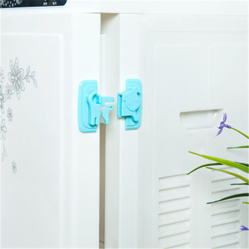 Puppy Shape Safety Locks For Refrigerators Door Baby Protection From Children Lock Castle Security Blocker Padlock D2 1pc