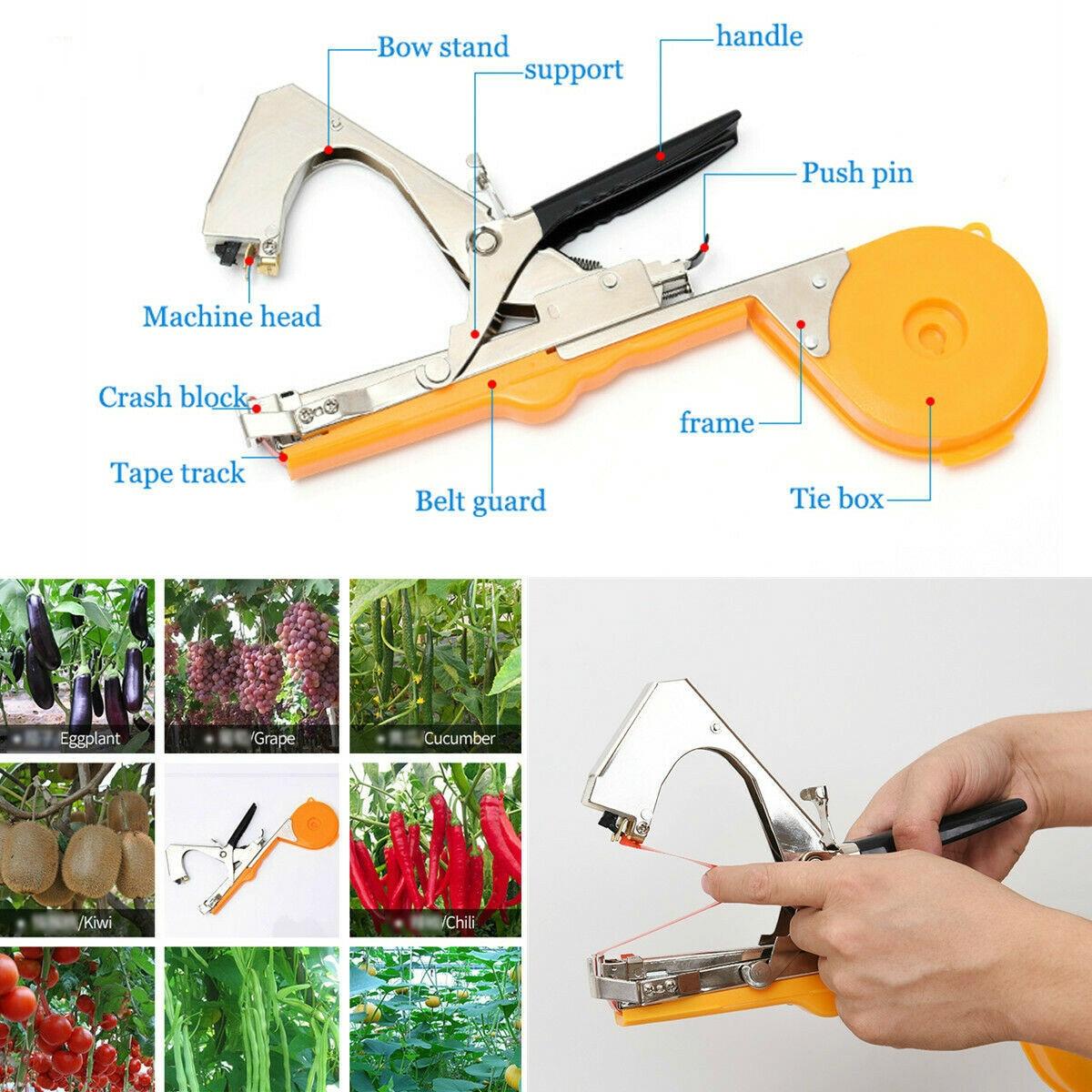 Machine à relier légume jardin outil plante attachant Tapetool Tapener bande sangle