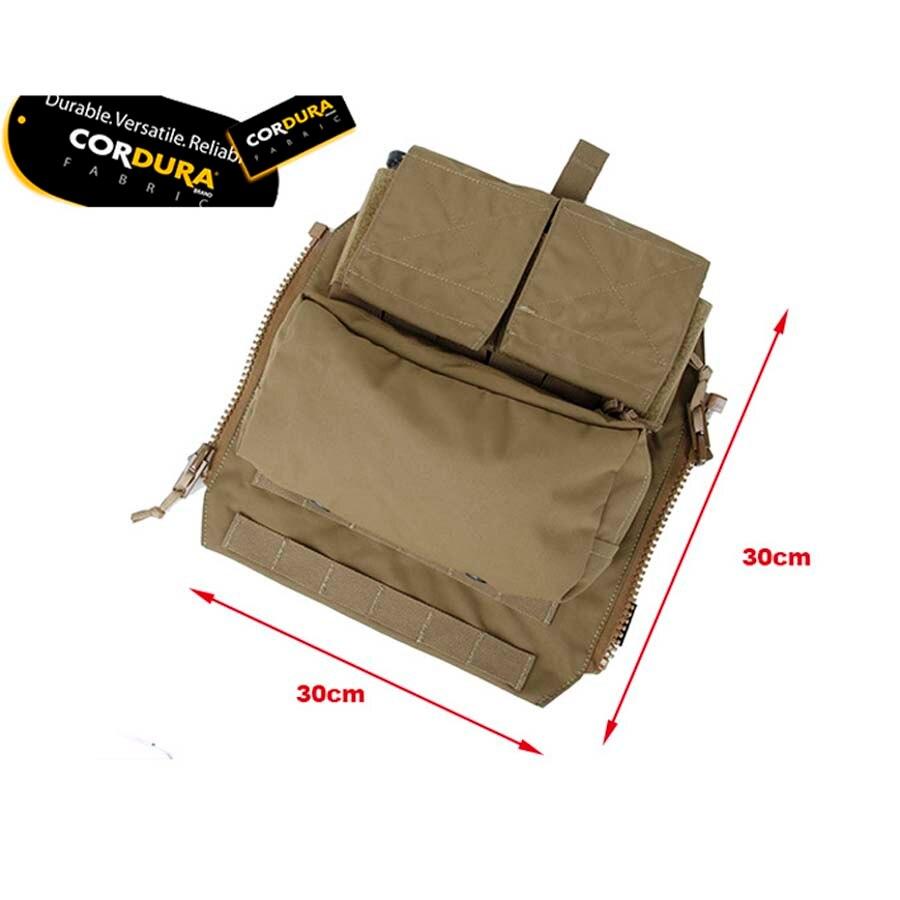 2018 New Khaki Black Panel PouchTactical Vest Zipper Magazine Pouch Bag for CPC AVS JPC2 0