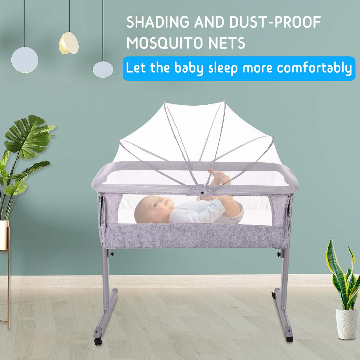Baby Care Bed Furniture Portable Infant Travel Sleeper Cot Sleeper Breathable Folding Crib Toddler Cradle With Mosquito Net