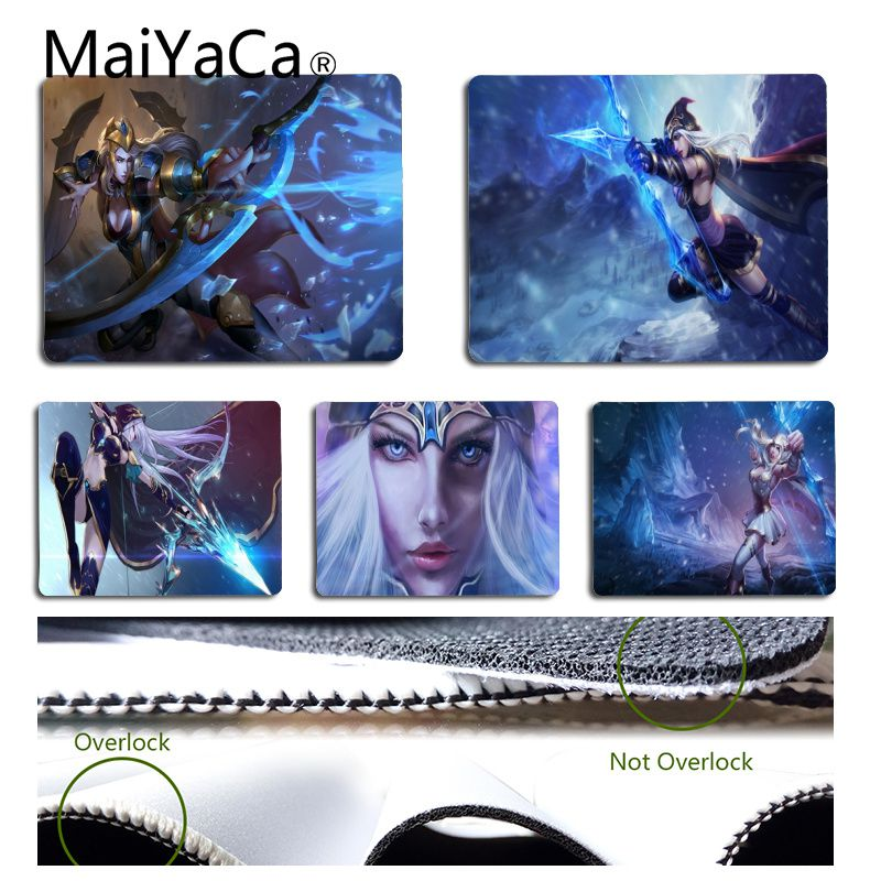 MaiYaCa Vintage Cool Ashe Gaming Mouse Pad Size for 18x22cm 25x29cm Rubber Rectangle Mousemats