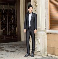 Певица бизнес этап корейский черный костюмы для мужчин костюм комплект с брюки девочек 2019 S свадебные жених