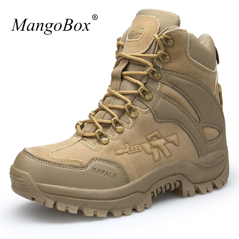 cc8e4871337 US $37.46 44% OFF|High Top Mens Outdoor Trainers Popular Mens Shoes Luxury  Brand Trekking Hiking Boots Men Spring Autumn Mens Mountain Boots-in Hiking  ...