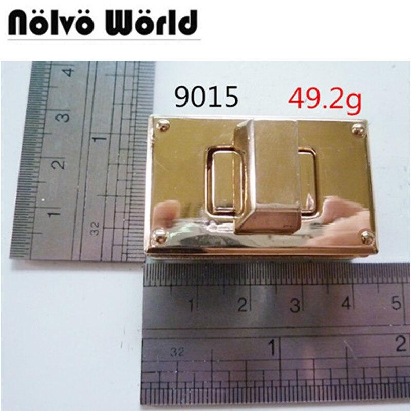 10pcs DIY Bag Handbag Twist Lock Safety Turn Lock In Locks Large Version Metal Locks