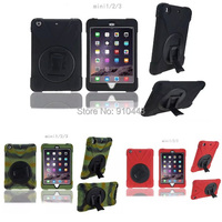 Hybrid Pirate Silicone Gel Rubber Robot Shockproof Full Protection Cover Case Stand Holder For Ipad Mini