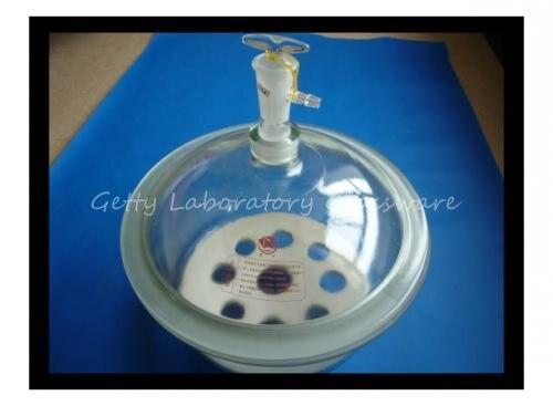 Dessiccateur de laboratoire de pot de dessiccateur de vide en verre de Pyrex, diamètre intérieur 12