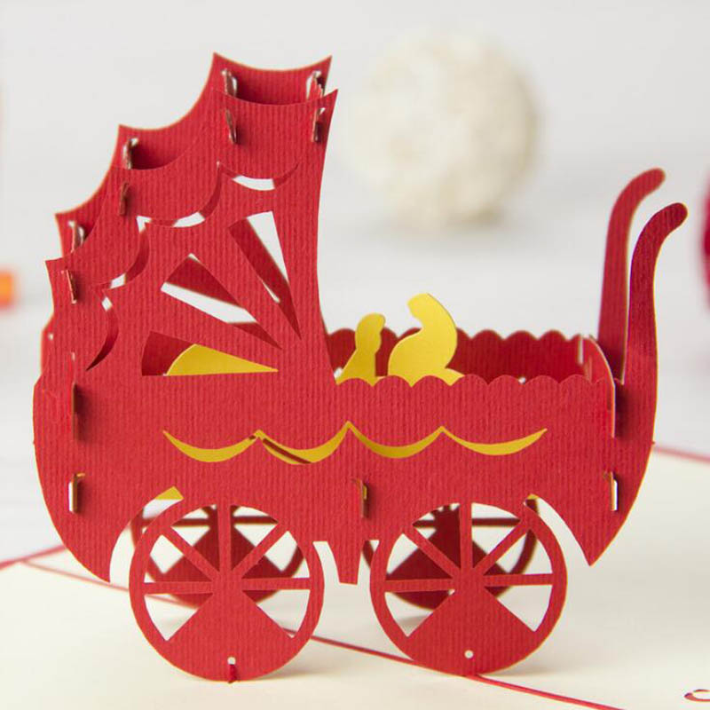 3D Paper Sculpture Greeting Card Christmas Decoration