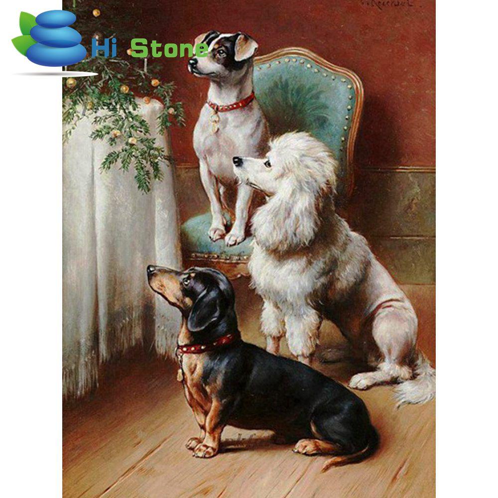 5D diy алмаз живопись полный квадратный алмаз вышивки крестом алмазов EmbroideryA белый кот собака Животные украшения дома подарок