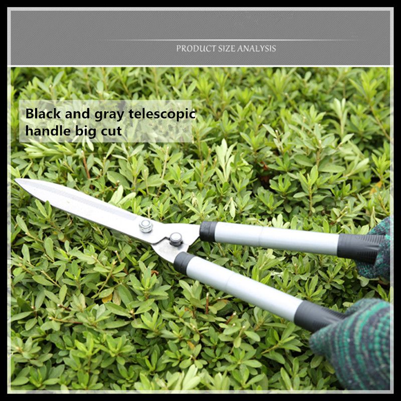 Garden tools pruning tools garden pruning black and gray telescopic handle fence scissors specials can be wooden handle steel handle felling firewood cut bamboo garden pruning sickle contempt shinai