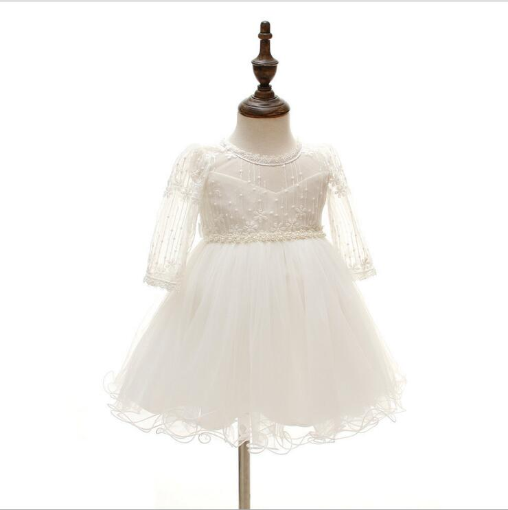 Long Sleeve Newborn Toddler Clothes Tutu baptism Infant Christening Gown Baby Girls princess dress for party First birthday wear 4pcs baby girl clothes swan infant clothing princess tutu dress party baby christmas outfits clothes birthday costumes vestido