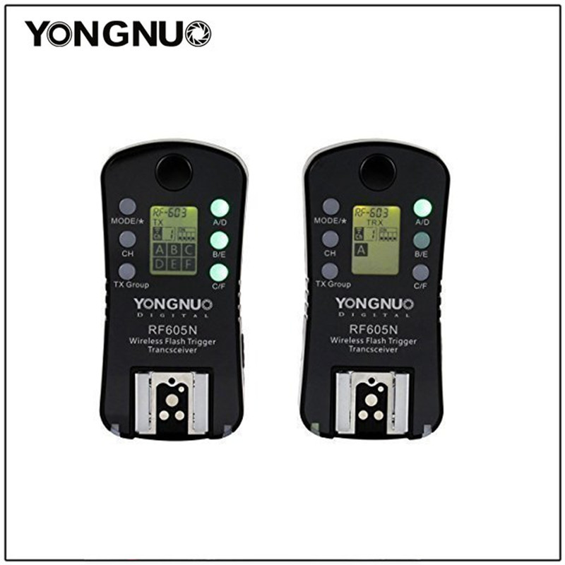 Yongnuo RF605N Flash Trigger RF 605N Wireless Remote Shutter Release for Nikon D7100 D5200 D5100 D3100