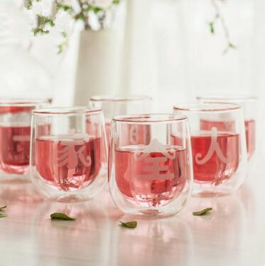 200ml*6 Family Gift Set tea ware High-grade borosi...