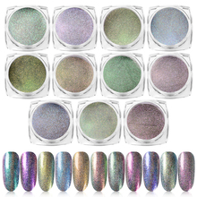 T-TIAO CLUB 0.2g Holographic Nail Glitter Powder Dust Sandy Chrome Pigment Decorations Art DIY Manicure Designs