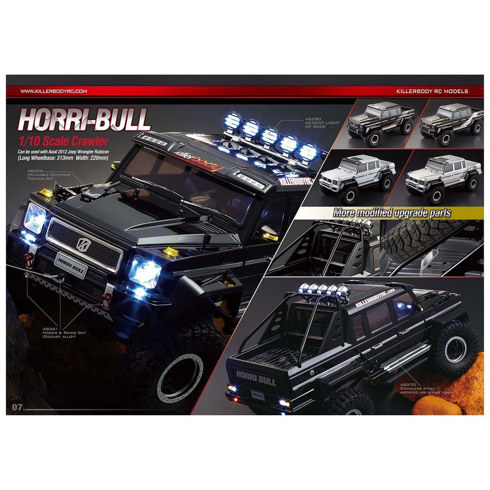 Killerbody HOaRRI-BULL Finished Body Shell Black (Printed) 48338 for 1/10 Electric Touring Car Exquisite Mechanical Work