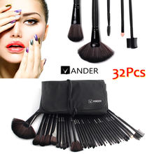 Black Vander 32 Pcs Makeup Brushes Set Foundation Face&Eye Powder Professional Pinceaux Cosmetics Makeup Brush + Pouch Bag Gift