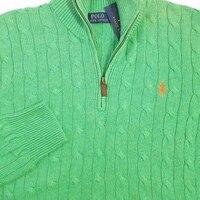 POLO RALPH LAUREN мужские кабель вязать свитер зеленый шелковый SZ M СЗТ $145