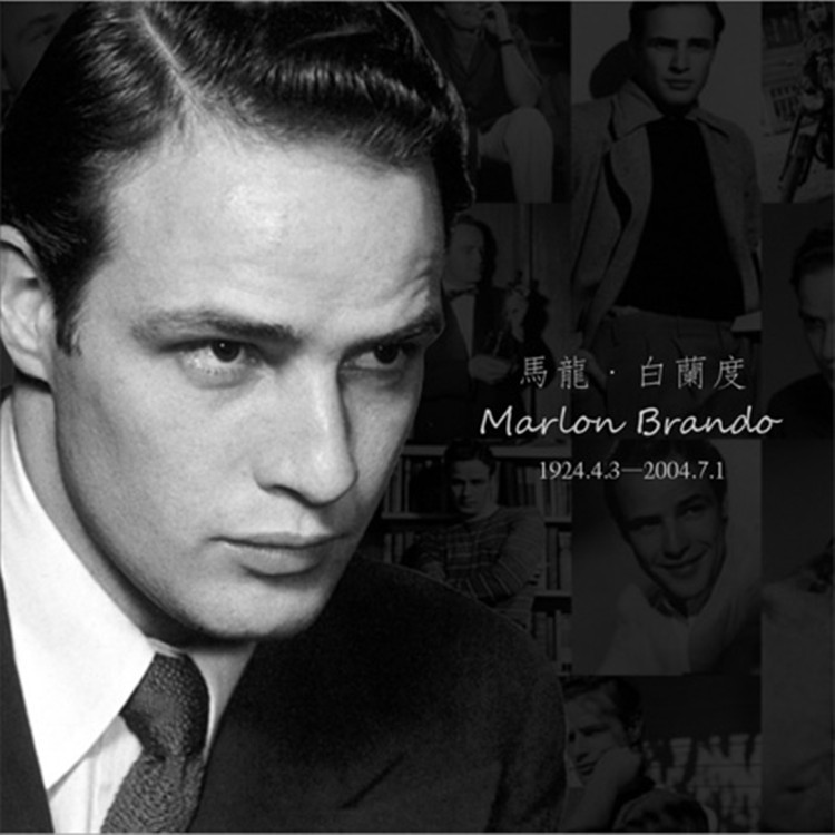 12 Sheets/LOT Marlon Brando Postcard  Classical Retro Black And White Vintage Postcard Gift