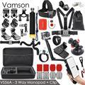 Vamson para Gopro 7 kit de accesorios para xiaom de yi 4 k para gopro hero 7 6 5 4 3 kit de montaje para trípode SJCAM SJ4000/eken h9 VS56