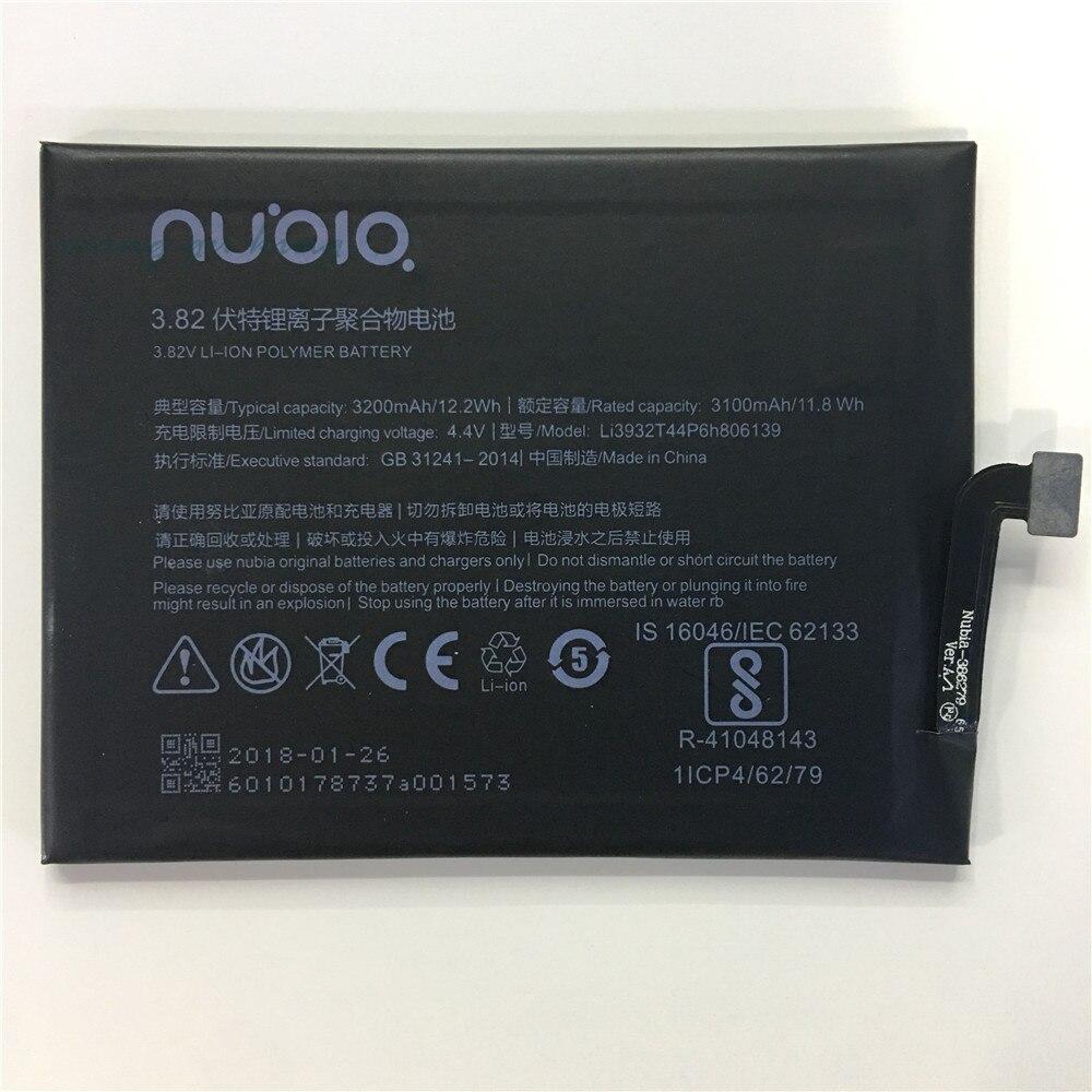 Li3932T44P6h806139 Batterie Für ZTE Nubia Z17 NX563J Batterie 3200 mah Freies Verschiffen zu Russland