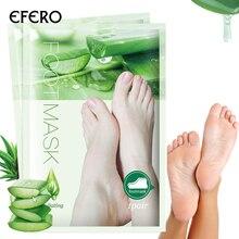 efero 1Pair Aloe Peeling Foot Mask for Legs Moisturizing Feet Exfoliating Socks Pedicure Anti Crack Remove Skin