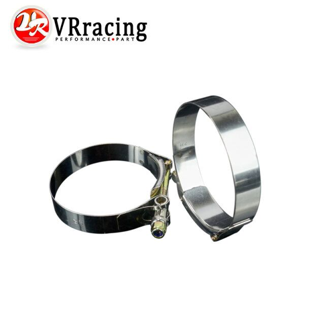 VR RACING - 2PC/LOT SS304 3 CALMPS (79-87)STAINLESS SILICONE TURBO HOSE COUPLER T BOLT CLAMP KIT HIGH QUALITY VR5254