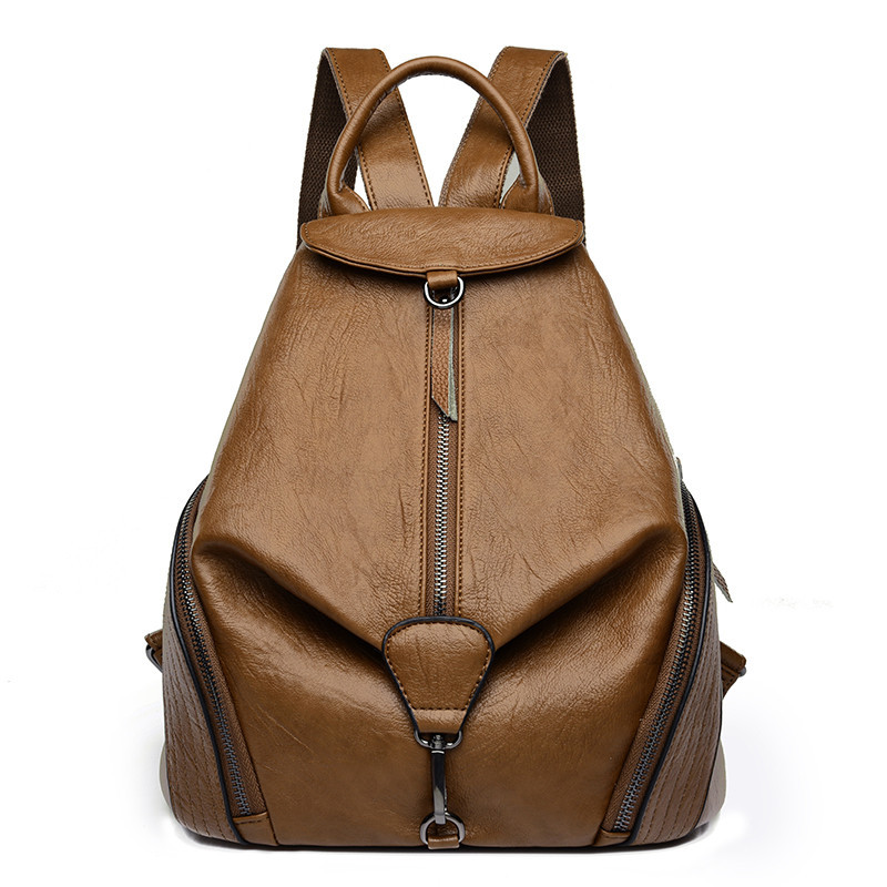 Vintage High Quality Pu Leather Backpack Woman New Arrival Fashion Vintage Backback Female School Bag Mochila Feminina Sac A Dos luyo brand crocodile alligator genuine leather female fashion vintage cool backpack mochila feminina sac a dos womens youth