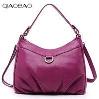 QIAOBAO Luxury Brand Women Shoulder Bag 100 Natural Leather Top Quality Bags Ladies Tote Handbag High