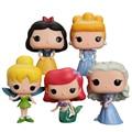 Funko POP Princesa Ariel Cinderella Blancanieves Tinker Bell Figuras Encantadora Mini Colección Modelo Juguetes Regalos Para Niños # F