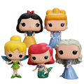 Funko POP Princess Cinderella Snow White Tinker Bell Ariel Figures Lovely Mini Collection Model Toys Gifts For Kids #F