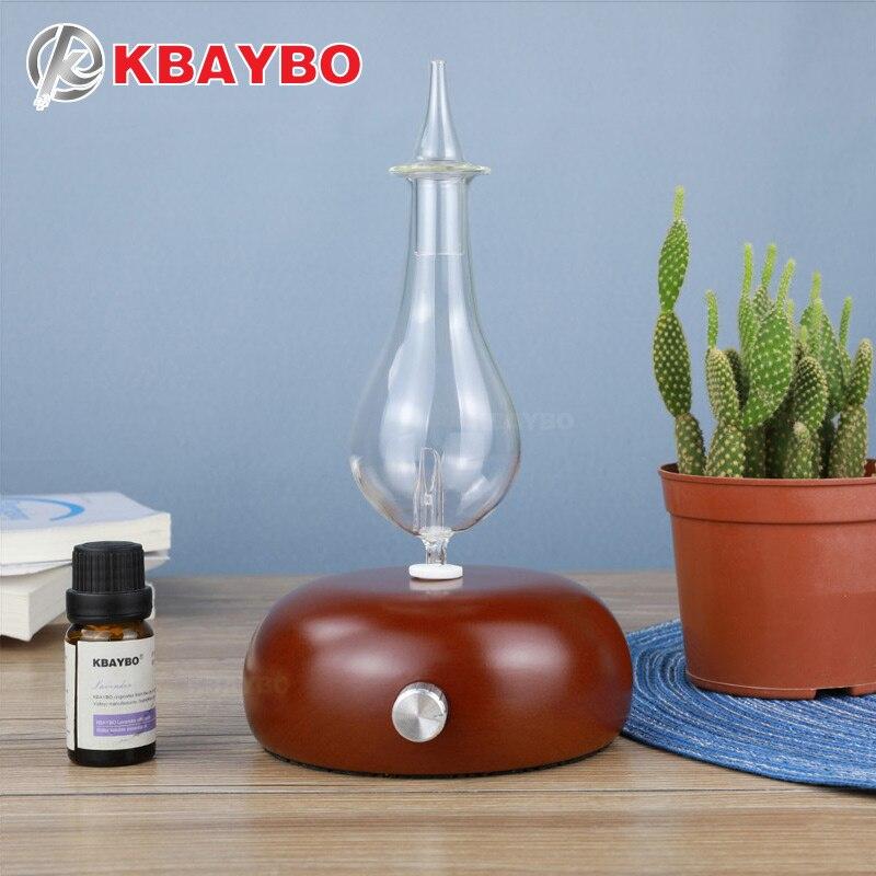 KBAYBO дерева и Стекло ароматерапия диффузор эфирное масло диффузор аромат диффузор fogger с 7 видов цветов светодиодный свет дома