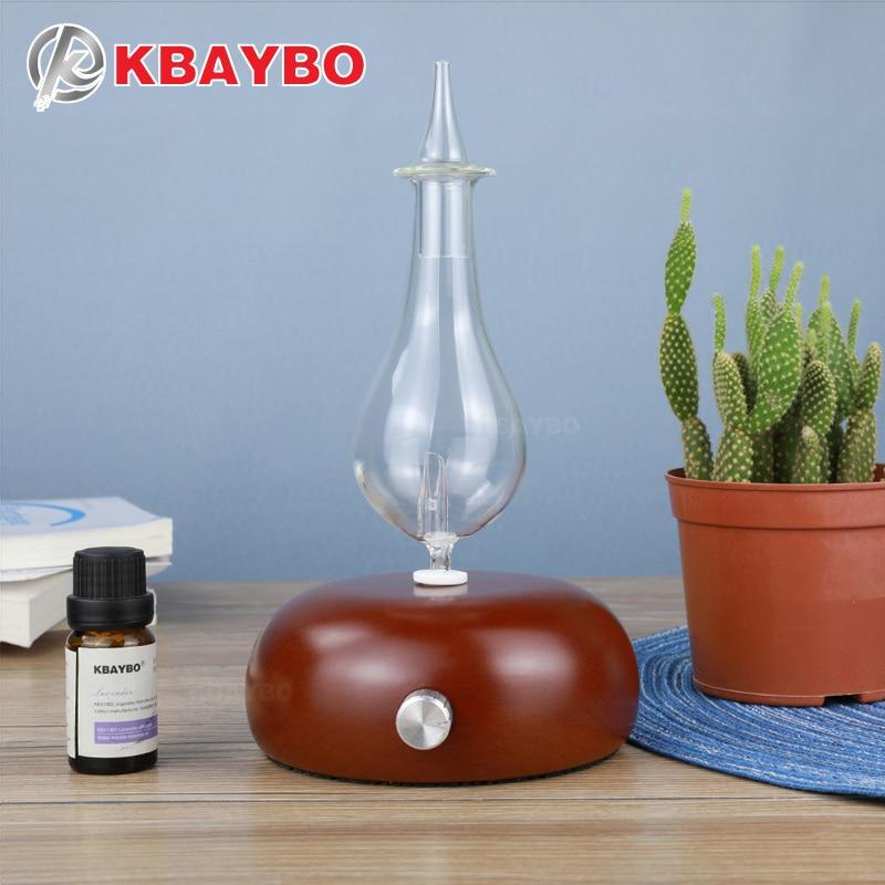 KBAYBO дерева и стеклянный рассеиватель для ароматерапии эфирное масло диффузор Ароматический диффузор fogger с 7 видов цветов светодио дный све...