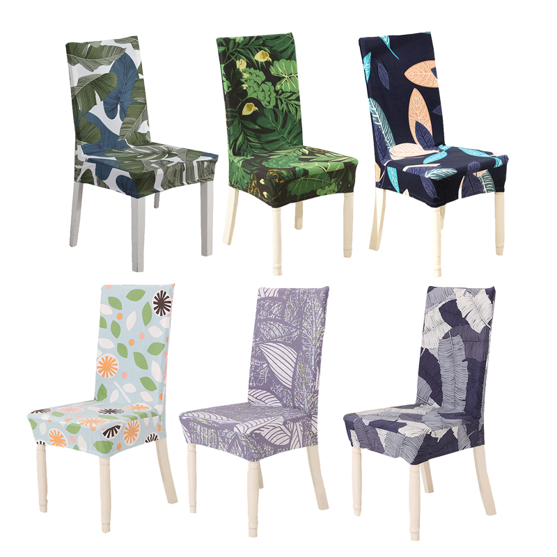 Us 5 78 Universal Size Dining Room Chair Cover Tropical Leaf Printing Spandex Stretch Seat Covers Office Hotel Protector Case In