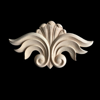 Wood Appliques Woodcarving Decal Carved Furniture Vintage Home Decor Decoration Accessories Figurines Miniatures