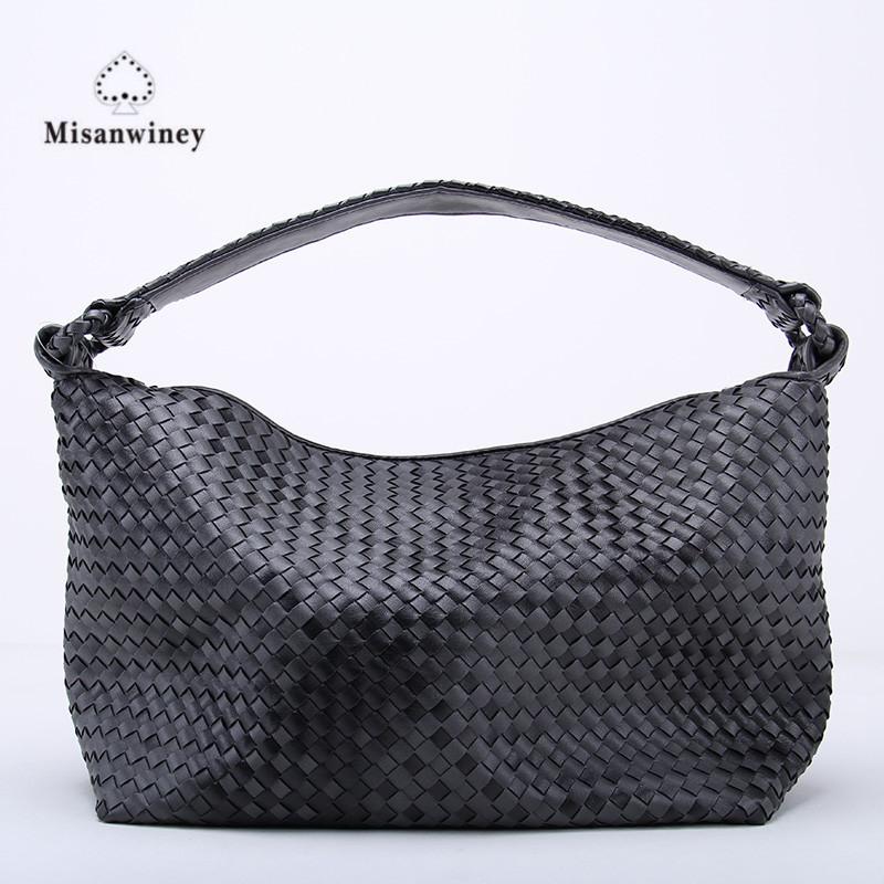 Misanwiney Luxury Minimalist Weave Large Capacity Women Designer Handbags High Quality Leather Composite Tote Bag Knitting high quality tote bag composite bag 2