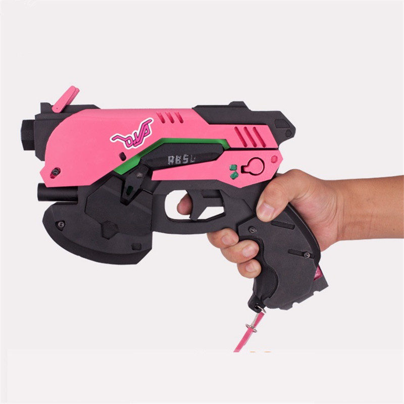 1:1 dva gun weapons model 25cm toys OW weapon cos D.Va Gun Halloween Cosplay Props dva Weapon OW Prop Accessories ninja genji