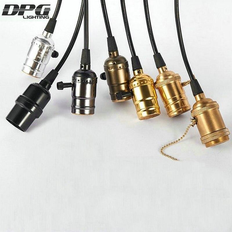 Loft Vintage Messing Hanglamp Houder Led Filament Edison Bollen Lights 110 V 220 V E27 Lampen Het Hele Systeem Versterken En Versterken