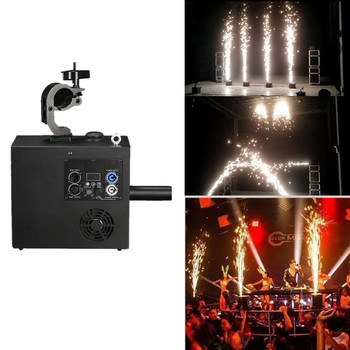 LED Stage Light Wedding Smokeless Sparkular Cold Fireworks Machine Fountain Powder Silver Color Bag 120g Jet 4-5m Remote Control