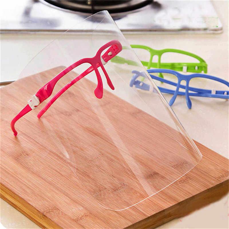 Gorąca sprzedaż nowość bezpieczeństwo kuchnia gotowanie anty-olej Splash wyczyść maska do osłony twarzy Protector akcesoria kuchenne 3 kolory