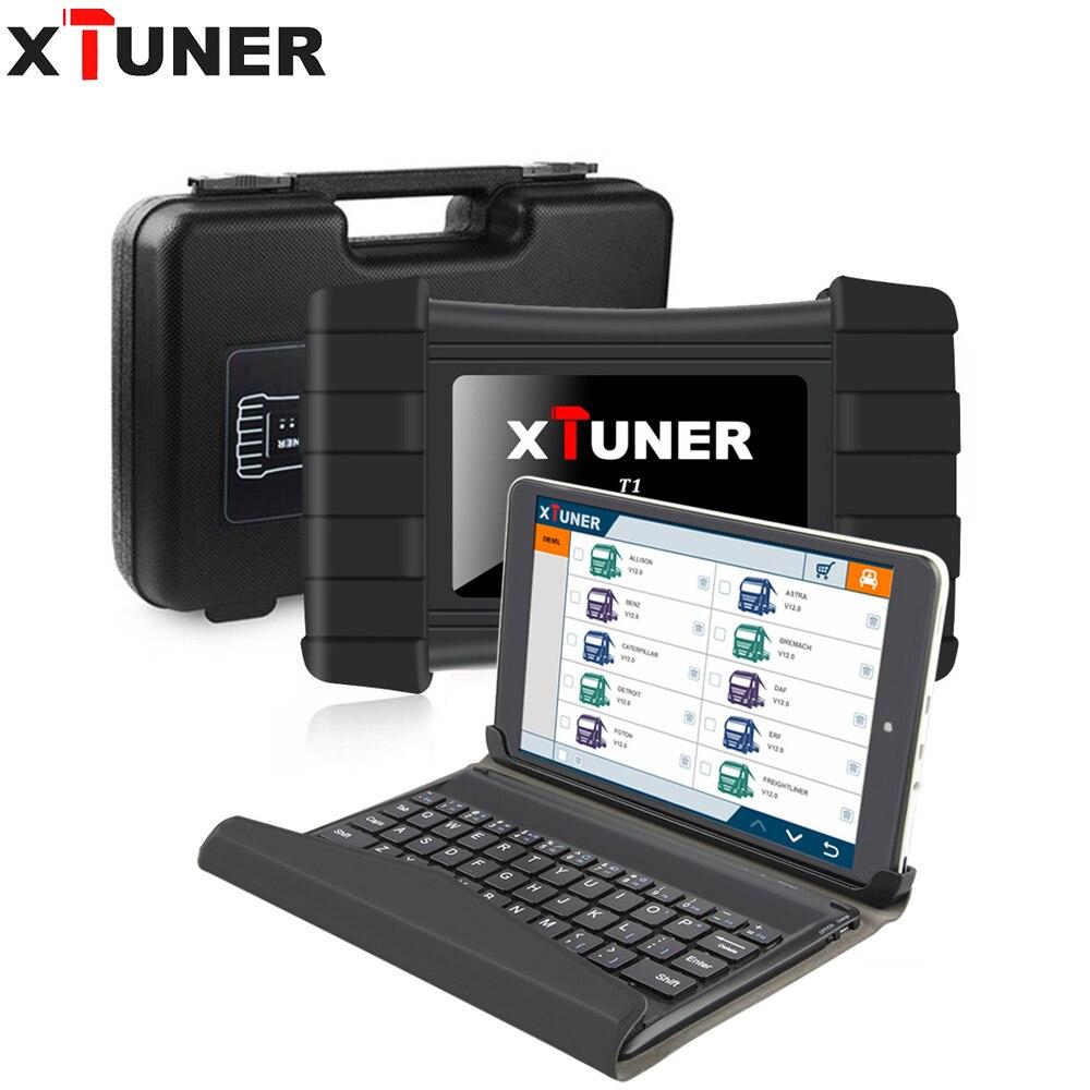 XTUNER T1 V9.6 HD Heavy Duty Truck Scanner Ferramenta de Auto Diagnóstico Com Caminhão Airbag ABS DPF Reset + 8 EGR polegada WIN10 OBD2 Autoscaner