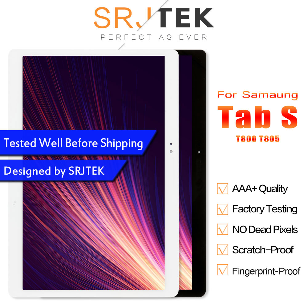 Srjtek 10.5 for Samsung Galaxy Tab S T800 T805 SM T800 SM T805 LCD Display with Touch Screen Digitizer Sensor Full Assembly