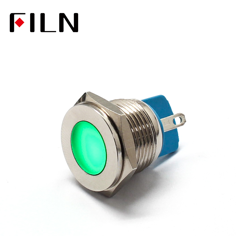 16mm Indicator Light LED Signal Lamp High Quality Metal 12V Red Yellow Green White Colorful