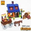 Hacer vino casa 686 unids kits de edificio Modelo compatible con lego ciudad granja bloques 3D juguetes Educativos aficiones para niños
