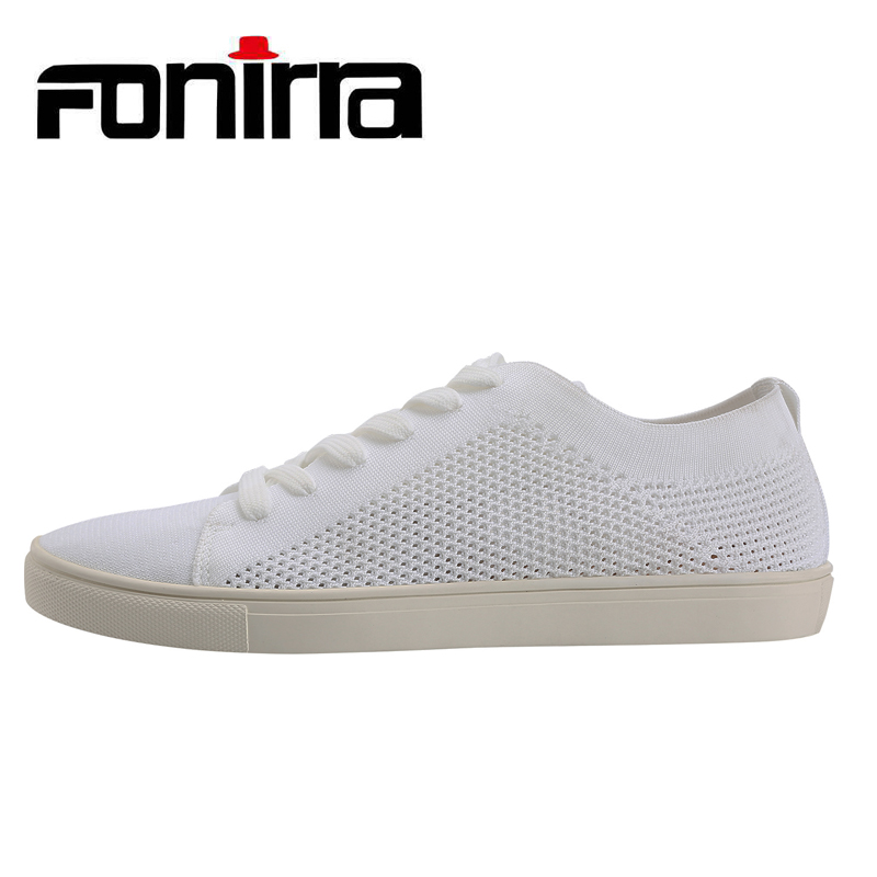 FONIRRA Autumn Knitting Stretch Fabric Casual Shoes Men