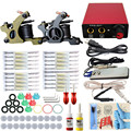 Tattoo Kit Complete Profesional 2 Pro Machine Gun Complete Power Supply Needles 2 Colors Inks For Permanent Makeup