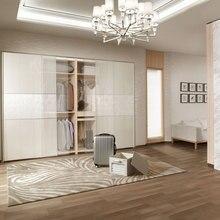 Дизайн новейший Декоративный шпон раздвижные зеркальные двери шкафа YG61402