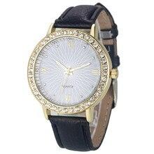 Vintage femme Watch Fashion Montre Women's Crystal Diamond Watches Analog Leather Quartz Wristwatch Female Dress Clock Relogio M