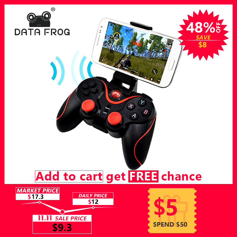 Data Frog Wireless Bluetooth Gamepad Game Controller For IOS Icade Android Smart Phone For PS3 PC Laptop Gaming Control стоимость