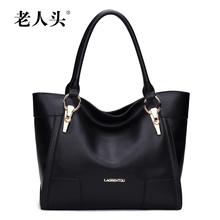 LAORENTOU Brand fashion genuine leather bag ladies casual cowhide luxury handbags women bags designer sac a main femme de marque