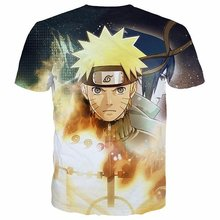 Two Sided Naruto Printed Short Sleeve T Shirt