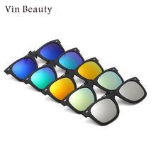 Солнцезащитные очки Объектив переменного тока клип на Поляризованные зажим для линз Прочный Модный практичный открытый классические очки для близоруких